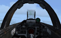 View from Saab Viggen cockpit.