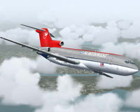 Screenshot of Northwest Boeing 727-200 in flight.