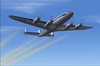 Screenshot of Lockheed L-749 dumping fuel.