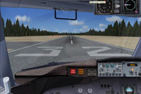 View from the cockpit of runway 32.