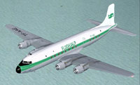 Screenshot of Flughjalp Douglas DC-6 in flight.