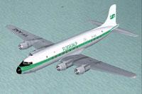 Screenshot of Flughjalp (JCA) Douglas DC-6 in flight.