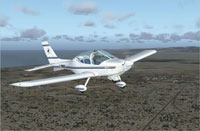 Screenshot of Fly Synthesis Texan Club 550 LSA in flight.