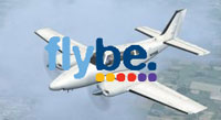 Screenshot of Flybe Beechcraft Baron 58 in flight.