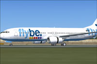 Screenshot of Flybe Boeing 737-800 on runway.
