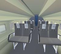 Screenshot of Fokker 50 interior.