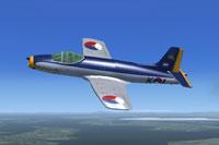 Screenshot of Fokker S-14 Mach-Trainer K-1 Prototype in flight.