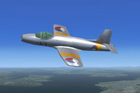 Screenshot of Fokker S-14 Mach-Trainer L-1 in flight.
