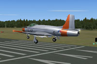 Screenshot of Fokker S-14 Mach-Trainer L-17 landing on runway.
