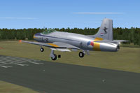 Screenshot of Fokker S-14 Mach-Trainer L-2 landing on runway.