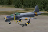 Screenshot of Fokker S-14 Mach-Trainer L-3 on the ground.