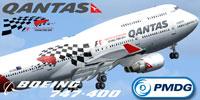 "Screenshot of the Quantas ""Formula 1"" Boeing 747-400."
