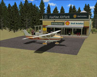 Screenshot of Foxpine Airpark scenery.