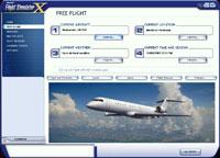 Screenshot of the 'Freeflight' menu in FSX.