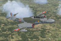 Screenshot of French Meteor NF11 2 in flight.