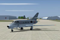 Screenshot of French Navy AMD Falcon 10MER on the ground.