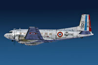 Screenshot of French Navy Douglas C-117D in flight.
