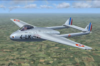 Screenshot of French de Havilland Vampire FB5 in flight.