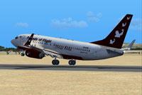 Screenshot of Friends of Flight Boeing 737-700 taking off.