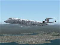 Screenshot of Frontier Airlines CRJ700-ER in flight.