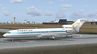 Screenshot of Frontier Boeing 727-200 ADV on runway.