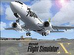 Splash Screen showing jetliner taking off.