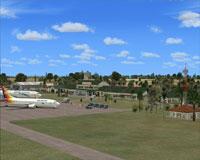 Screenshot of Fua'amotu International Airport scenery.