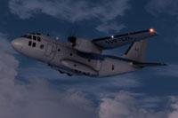 Screenshot of C27J Spartan FAP328 in flight.