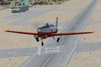Screenshot of Fuji T-7 Trainer taking off.