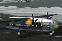 Screenshot of GAF Nord-2501 D Noratlas on runway.