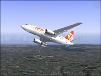 Screenshot of GOL Boeing 737-700 in flight.