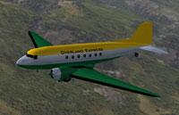 Screenshot of OverLand Express DC-3 in flight.
