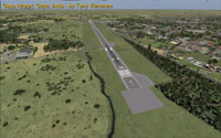 Screenshot of runway 28, Gaya Airport.