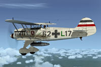 Screenshot of German Air Force Heinkel He 51 in flight.