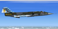 Screenshot of German Air Force Lockheed F-104G in flight.