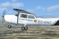 Screenshot of Gestair Cessna 172 in flight.