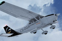 Screenshot of Gestair Flying Academy Cessna C172 in flight.