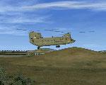 Chopper departing from Gilze Rijen Air Base.