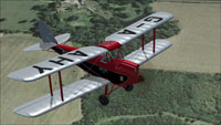 Screenshot of Gipsy Moth G-AAHY in flight.