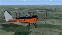 Screenshot of Gipsy Moth G-AANL in flight.