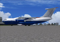 IL-76 D2-FCO on the ground.