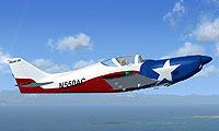 Screenshot of Glasair III 'LoneStar 2' in flight.