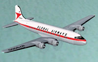 Screenshot of Global Airways Douglas C-54 in flight.