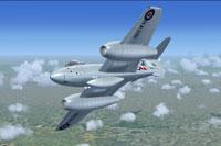Screenshot of Gloster Meteor F4 RA381 in flight.