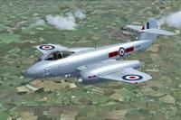 Screenshot of Gloster Meteor F4 VT328 in flight.