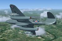 Screenshot of Gloster Meteor PR10 VS975 in flight.