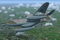 Screenshot of Gloster Meteor PR10 WH571 in flight.