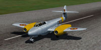 Screenshot of Gloster Meteor T Mk 7.5 on runway.