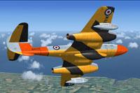 Screenshot of Gloster Meteor T7 WA659 in flight.