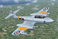 Screenshot of Gloster Meteor T7 WA733 in flight.